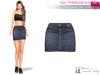 FULL PERM MAITREYA Denim Mini Skirt Short Skirt - 3 Textures