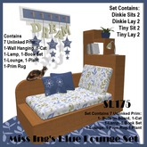 Miss Ing's Dinkie Tiny Lounger Blue Boxed