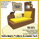 Miss Ing's Lounge Set - Yellow (Dinkie/Tiny)