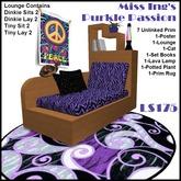 Miss Ing's Lounge Set - Purkle (Dinkie/Tiny)