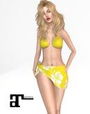 XK Maitreya Hawaiian Sarong Set Yellow