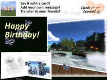 ~Lit'E Greeting Cards ~ 1064 ~ Surf and Turf ~ Scenic Birthday