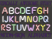 ~EAS~ neon-sign alphabet