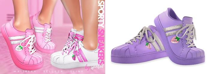 Spoiled - Sporty Sneakers Flat & Tippy Toe Purple