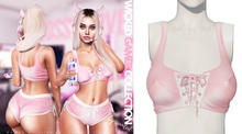 Spoiled - Wicked Ribbon Crop Top Babypowder