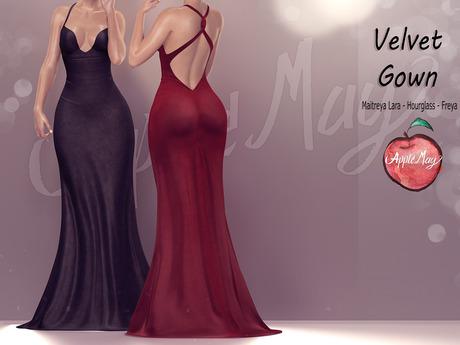 DEMO (AMD) Velvet Gown (wear to unpack)
