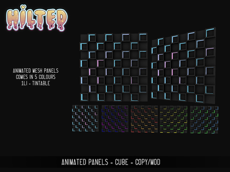 HILTED - Animated Panel - Cubes Pack