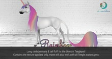 Lunistice: Rainbow Mane & Tail Fluff (for Unicorn Teeglepet)
