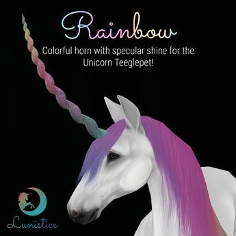 Lunistice: Rainbow - Unicorn Teeglepet Horn