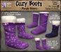 *LightStar - Cozy Boots-Purple Stars
