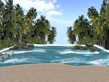 Skybox - Beach animated sea 45x45