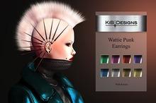 """KiB Designs - Wattie Punk Earrings  Box """"Wear"""""""