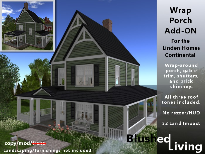 Second Life Marketplace Blushed Living Wrap Around Porch Continental Lh