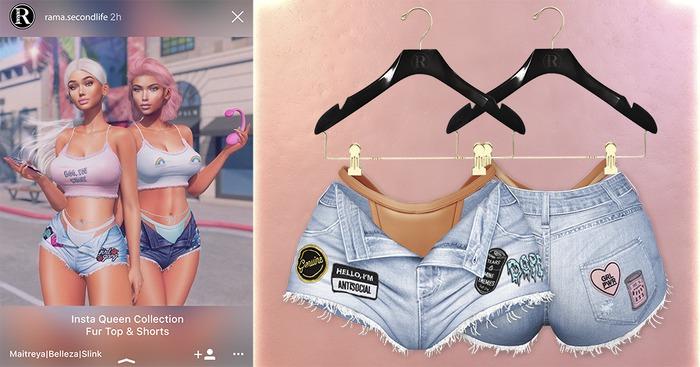RAMA - Insta Queen Shorts 'Light Blue'