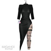 "Elegance Boutique -Dress & Harness - Black  -  ""Olivia"" - Legacy /   Maitreya /Slink / Belleza"