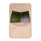 Cynful Ekaterina Jeans Skirt - Army Green  [Maitreya Lara, Belleza (Isis + Freya), Slink (HG), Legacy