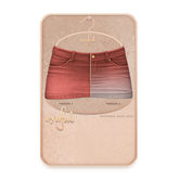 Cynful Ekaterina Jeans Skirt - Coral  [Maitreya Lara, Belleza (Isis + Freya), Slink (HG), Legacy