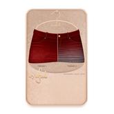 Cynful Ekaterina Jeans Skirt - Dark Red  [Maitreya Lara, Belleza (Isis + Freya), Slink (HG), Legacy
