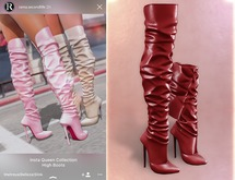 RAMA - Insta Queen High Boots 'True Red'
