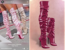 RAMA - Insta Queen High Boots 'Wine'
