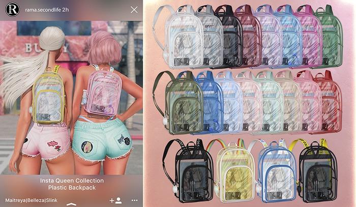 RAMA - Insta Queen Plastic Backpack 'FATPACK'