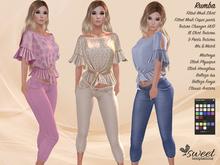 ST :: Rumba Outfit - Maitreya, Slink (P, H), Belleza ( I, F) - 18 Texture HUD. Mix & Match
