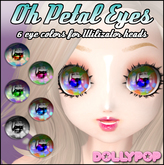 ~Dollypop~ Oh Petal Eyes for Utilizator Heads 6 Colors - M3, M4, Venus, Chibi, Anime, Mars, Kemono