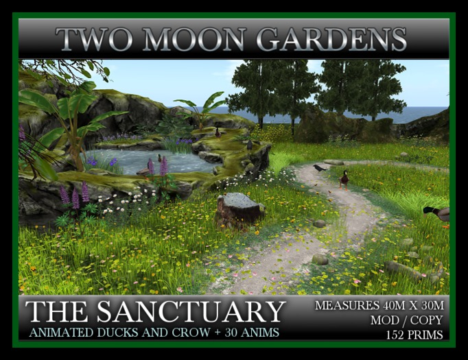 TMG - THE SANCTUARY* Landscaped Garden with animated birds