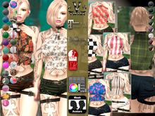 V-Twins- Casual Clothes - Contagious Color Version **MESH Outfit [Mesh Bodies Compatible] Maitreya Slink Belleza