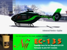 Fuselage & Rotor Paint Kit for EC-135