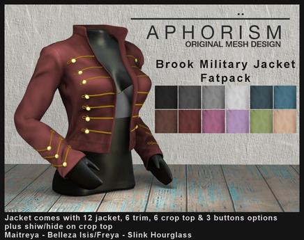 !APHORISM! - Brooke Military Jacket - Fatpack