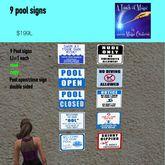 9 Pool signs--Bag