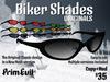 PrimEvil: Biker Shades Sunglasses: ORIGINALS