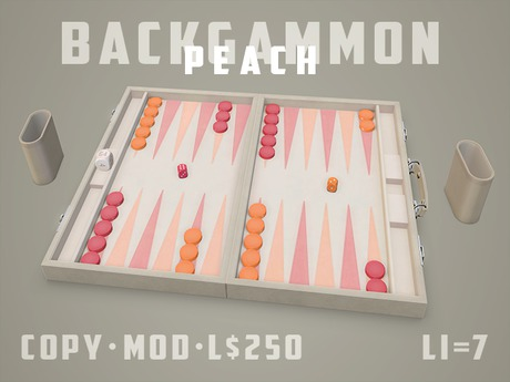 Play the Backgammon Game - Peach Theme