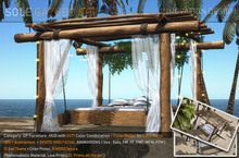 PROMO PRICE.: SOLE:. BEACH BED- BENTO - 300 ANIM ( MF, FF, FMM, FFM, FFMM ) - TEXTURE HUD + COLOR HUD