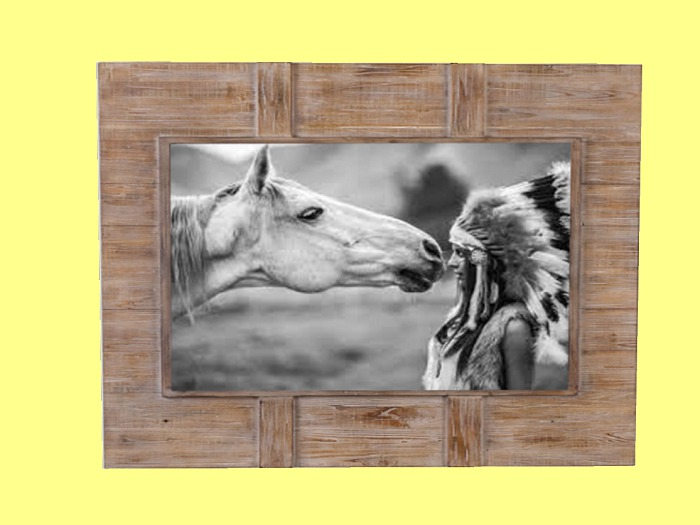 Second Life Marketplace Western Art Home Wall Decor Native American Indian Horse Love Country Wood Ranch Frame Hanging Picture Copy Mod 1 Prim