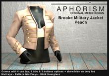 !APHORISM! - Brooke Military Jacket - Peach