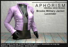 !APHORISM! - Brooke Military Jacket - Lavender
