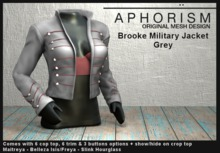 !APHORISM! - Brooke Military Jacket - Grey