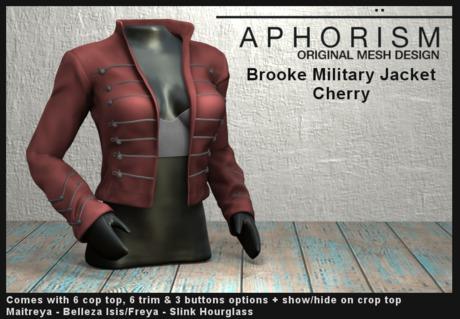 !APHORISM! - Brooke Military Jacket - Cherry