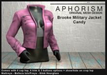 !APHORISM! - Brooke Military Jacket - Candy