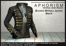 !APHORISM! - Brooke Military Jacket - Black
