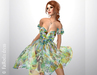 FaiRods Summer garden dress 3 yellow-green pack for all avatars