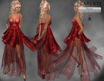 Ecarlate - Red Dress Gown Formal / Robe  Rouge - Manine - BF