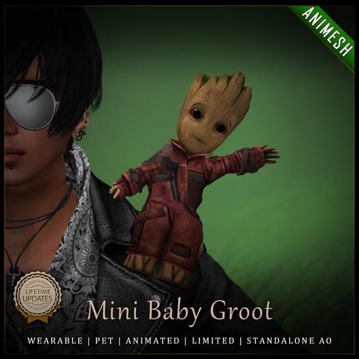 [C] Mini Baby Groot - Animesh (Shoulder Pet)