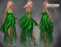 Ecarlate - Green Dress Gown Formal/ Robe de soiree Vert - Manine - BF