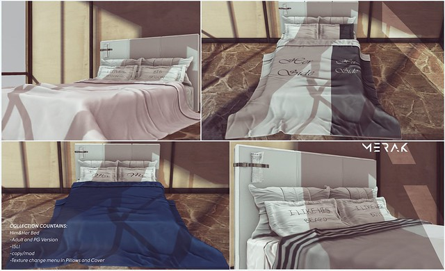 [Merak] - Him&Her Bed PG FREE GIFT