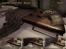 Leather Camp Bed Sofa Brown - Adult