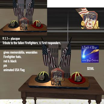 911 Tribute Gifts placque-Crate