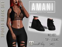 GROUPGIFT!! *AMANI* - Sports Black Set (ML)